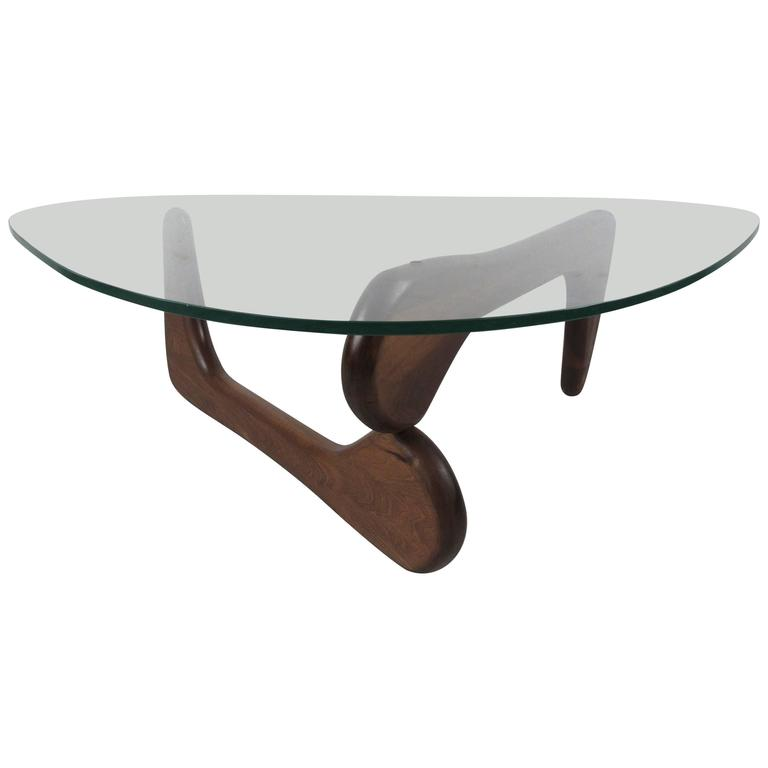 glass coffee table in the style of isamu noguchi at 1stdibs. Black Bedroom Furniture Sets. Home Design Ideas