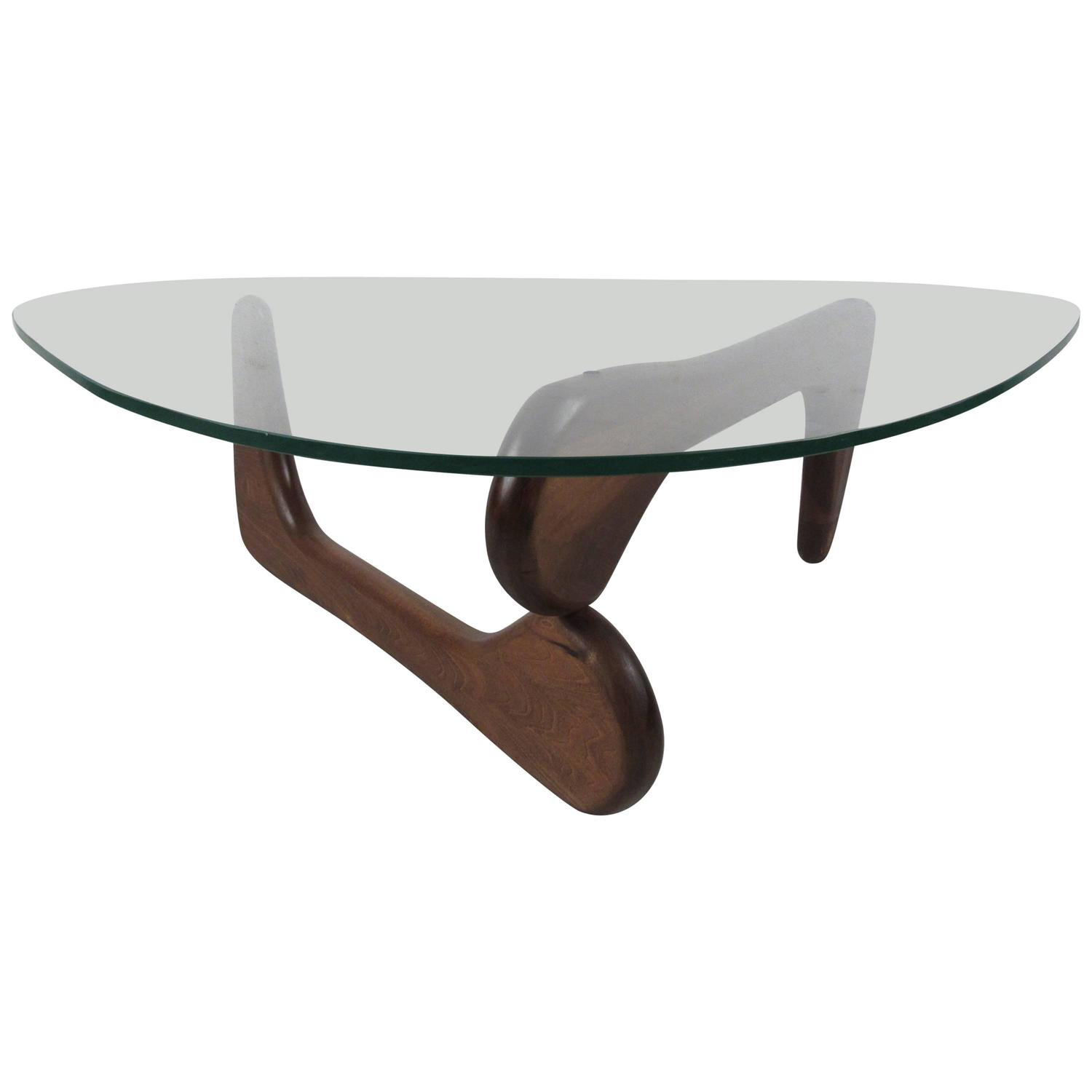 Glass Coffee Table In The Style Of Isamu Noguchi At 1stdibs