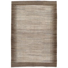 Modern Turkish Flat-Weave Kilim Rug