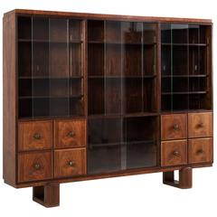 Large Art Deco Two-Section Display Cabinet