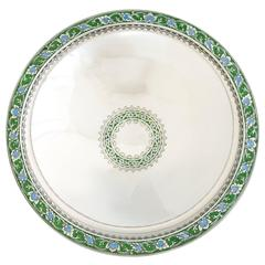 Spectacular Tiffany & Co Art Deco Sterling Silver & Enamel Centerpiece Bowl 1920