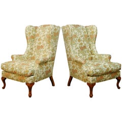 George II Style Wing Chairs