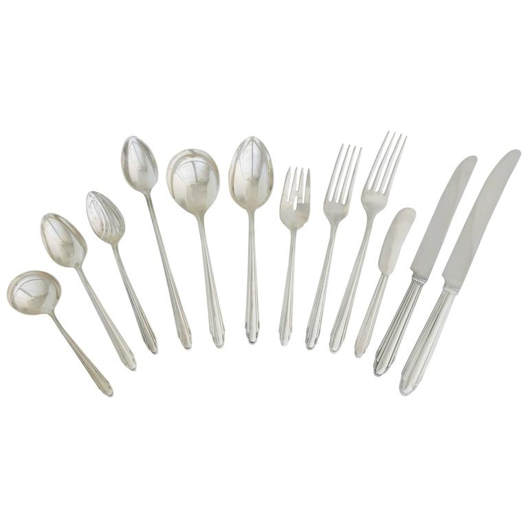 Unique eliel saarinen sterling silver american art deco Unique flatware sets