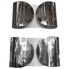 Metallic Sconces by Tobia Scarpa