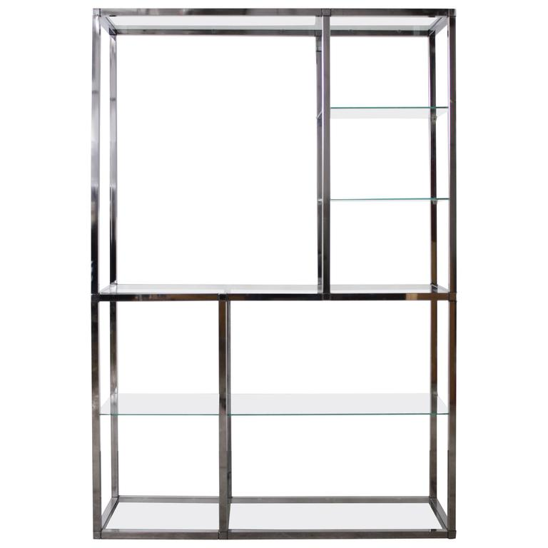 Chrome Etagere in the Style of Milo Baughman
