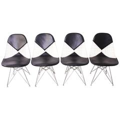 Set of Four Eames for Herman Miller DKR-2 Bikini Dining Chairs
