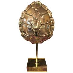 American Brass Tortoise Lamp