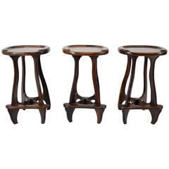 Don Shoemaker Set of Three Bar Stools