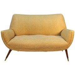 Mid-Century Modern Upholstered Loveseat