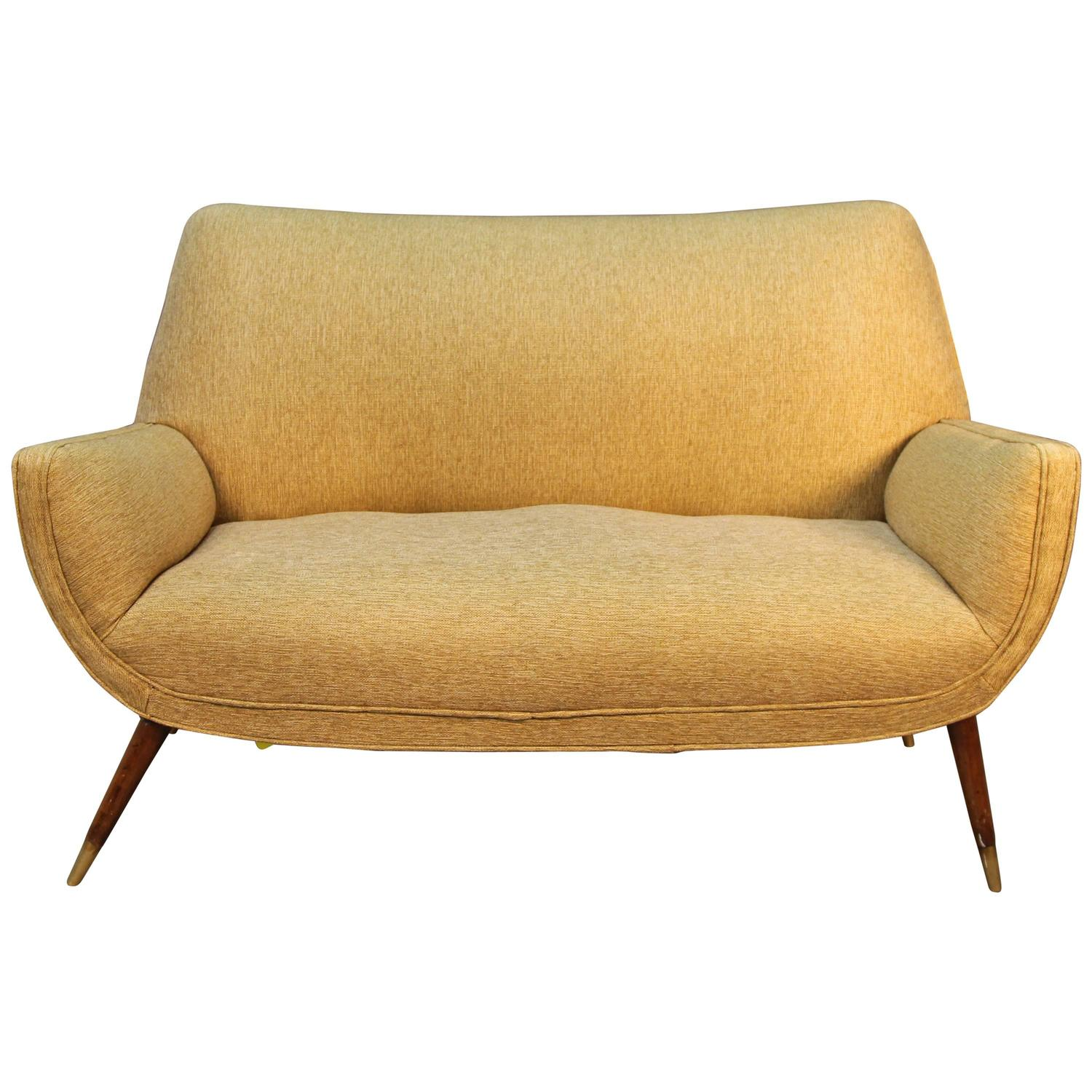 Mid Century Modern Upholstered Loveseat For Sale At 1stdibs