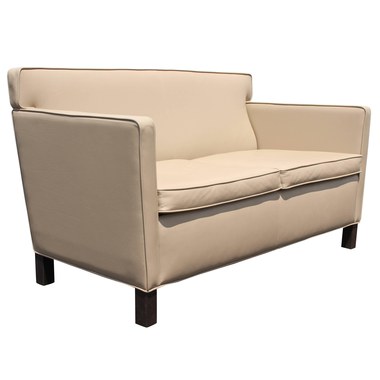 Ludwig Mies Van Der Rohe Krefeld Leather Settee Sofa for Knoll