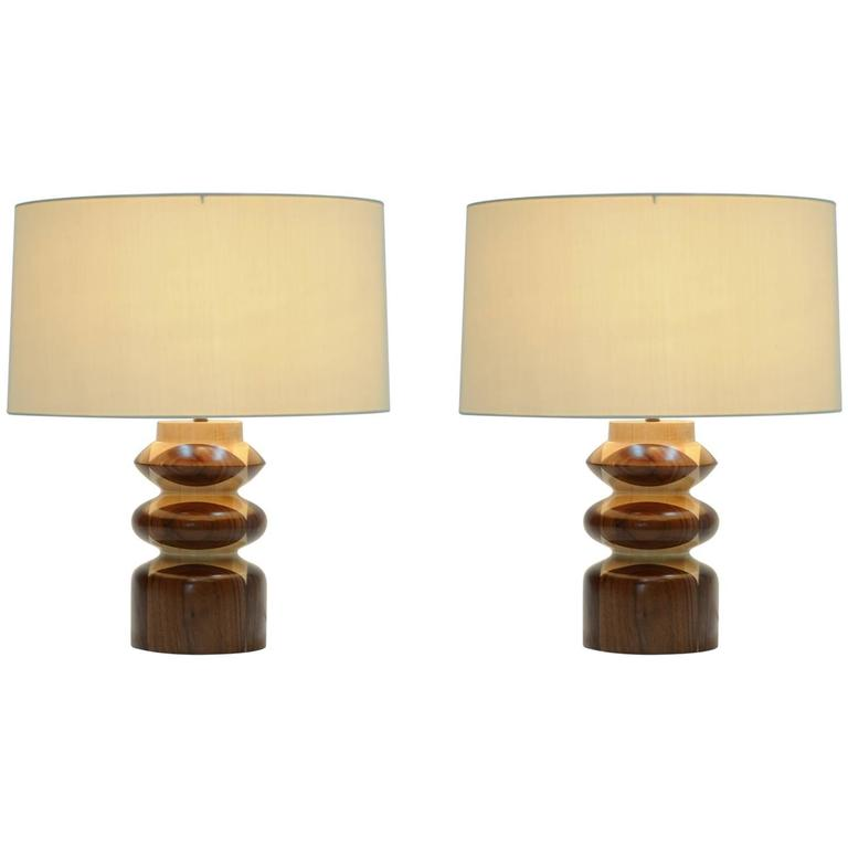 Pair of Lamps in the Manner of Raymond Lowey's Chess Pieces