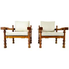 Pair of Mexican Armchairs in the Manner of Francisco Artigas