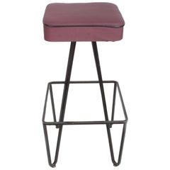 Pair of Wrought Iron Bar Stools after Frederick Weinberg