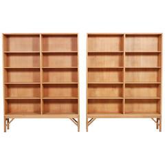 Børge Mogensen Pair of Oak Bookcases, 1958