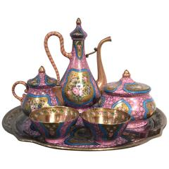 Sèvres Porcelain for Ottoman, Turkish Islamic Market Coffee Set, 19th Century