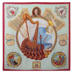 Hermes Mozart Silk Scarf with Box