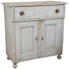 Original Painted One-Drawer, Two-Door Buffet