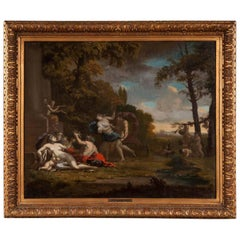 17th Century French Old Master oil painting, School of Poussin