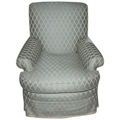 Attractive Upholstered Swivel Armchair