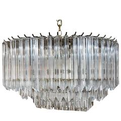 Beautiful Mid-Century Oval Lucite Chandelier
