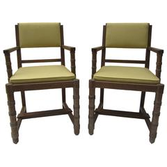 Pair of Armchairs in the Style of Jacques Adnet