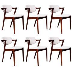 Kai Kristiansen Model 42 Dining Chairs