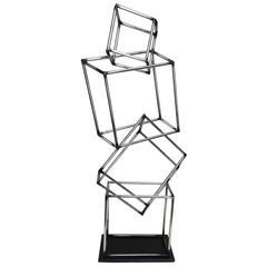 MCM Curtis Jere' Steel Cubist Sculpture