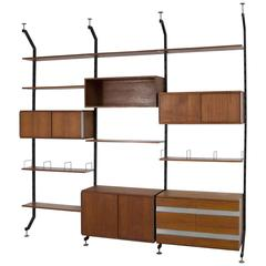Teak Wall-Unit by Ico Parisi for Mim Roma Model Urio
