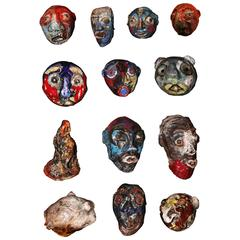 Series of 14 Original Ceramics by the Artist Francky Criquet