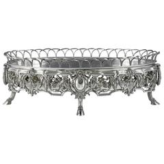 19th Century French Solid Silver Jardiniere