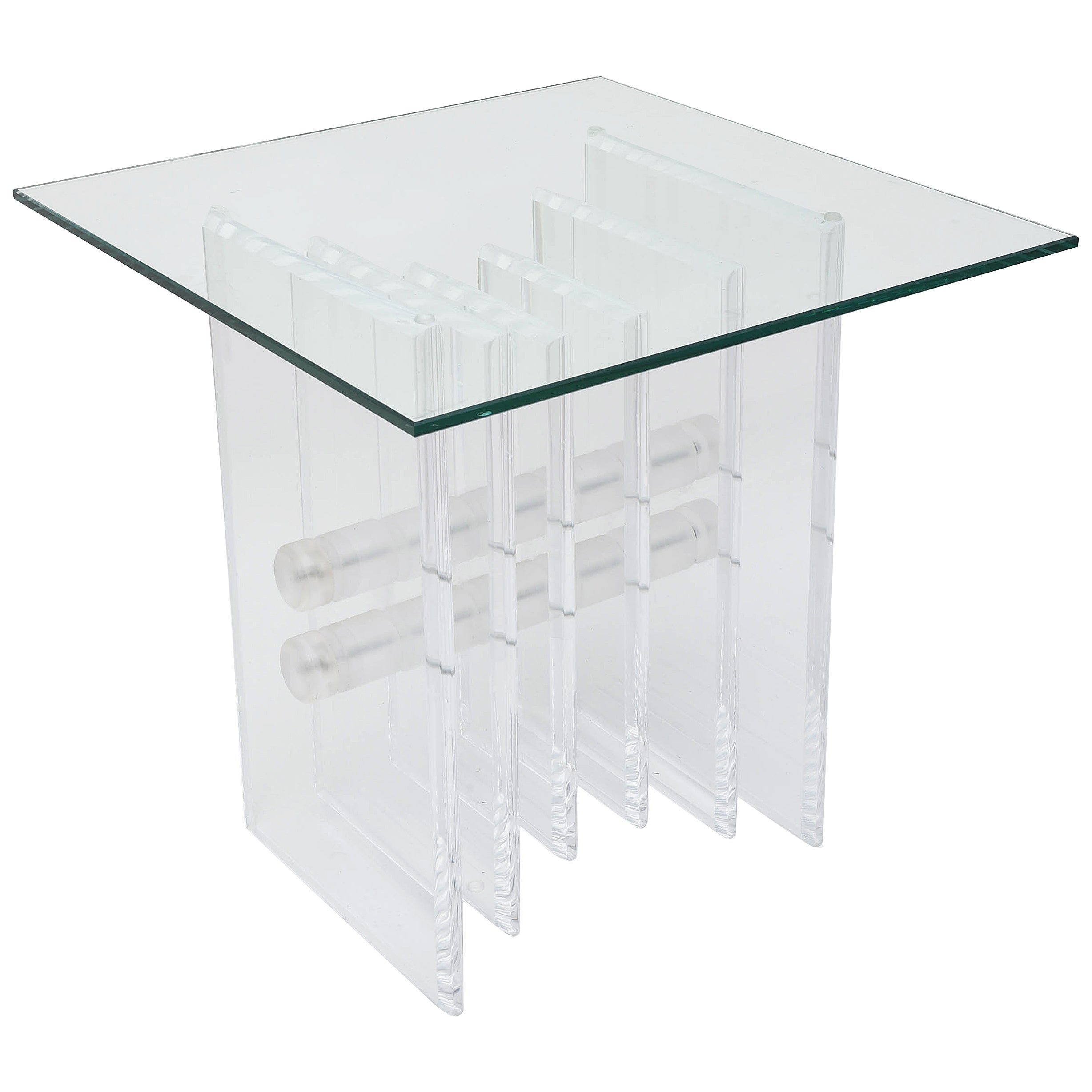 Mid-Century Modern Lucite Coffee Table Base
