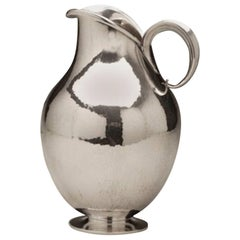 Georg Jensen Small Sterling Silver Water Pitcher No. 319B by Harald Nielsen