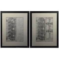 Pair of Engravings of Architectural Studies by Alessandro Specchi