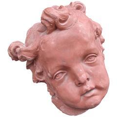 Monumental Terracotta Putti Bust