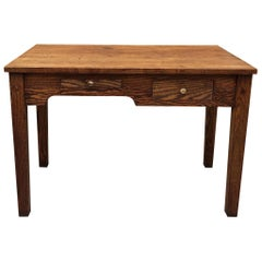 Rare 1920s Industrial Oak Engineer/Foreman's Desk