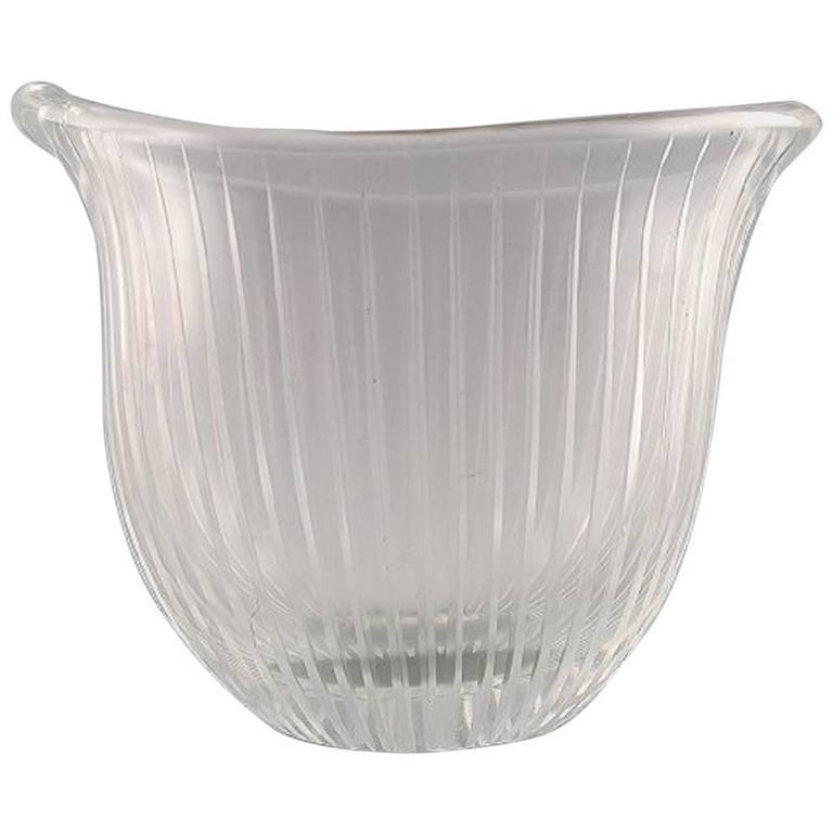 Tapio Wirkkala for Iittala Clear Art Glass with Engraved Decoration