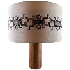 Uno & Osten Kristiansson for Luxus Scandinavian Design Table Lamp in Rosewood