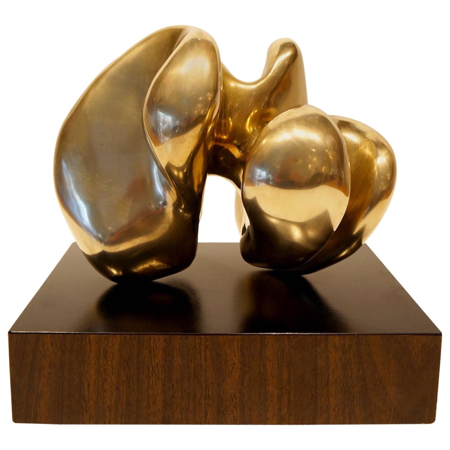 bronze abstract sculpture by eli karpel at 1stdibs. Black Bedroom Furniture Sets. Home Design Ideas