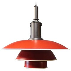 PH3½-3 Pendant in Red and White by Poul Henningsen and Louis Poulsen, 2014