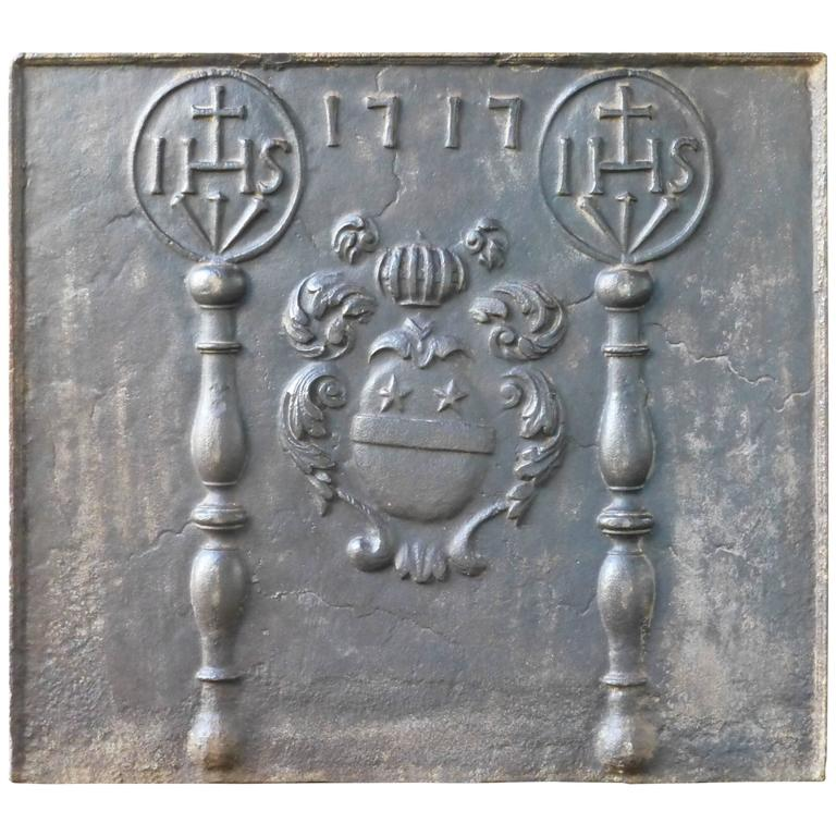 18th Century Arms of France Fireback