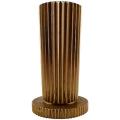 Large Tinos Art Deco Candlestick in Bronze, Denmark, 1940s
