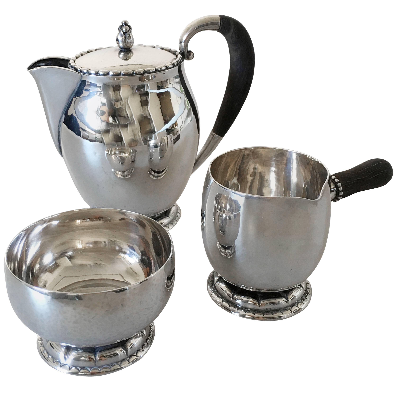 Georg Jensen Sterling Silver Tea Set #34