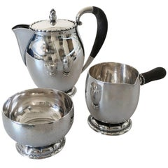 Georg Jensen Sterling Silver Tea Set #34