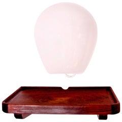 Palle Suenson Entré Table in Rosewood and Opal Glass Lamp - Piece Unique