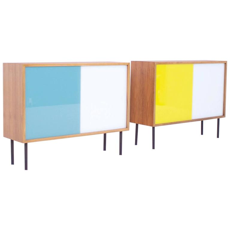 Small Teak Cabinets By Georg Satink For Wk M 246 Bel At 1stdibs