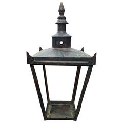 Monumental English Copper Lantern