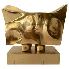 Prince Monyo Bronze Abstract Sculpture, Signed
