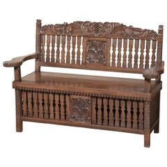 19th Century Country French Hall Bench