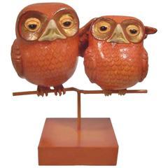"""""""Amigo Owls"""" Sculpture by Sergio Bustamante"""